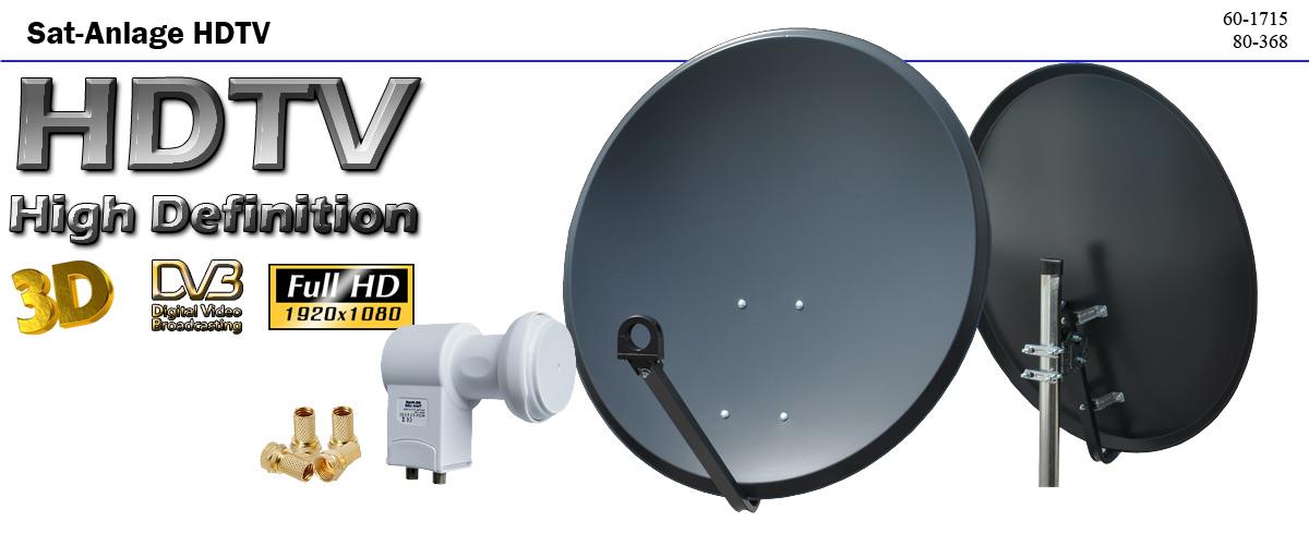 Hd digitale sat anlage 80 cm spiegel hd twin lnb hdtv 3d for Spiegel entsorgen