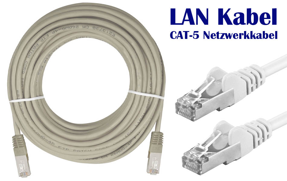 5m ethernet netzwerkkabel cat 5e patchkabel kabel netzwerk lan dsl 5 meter ebay. Black Bedroom Furniture Sets. Home Design Ideas